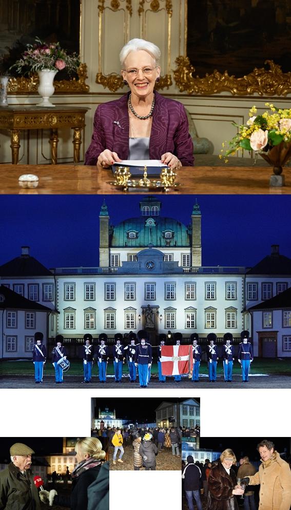 Nytårsaften 2014 på Fredensborg Slot