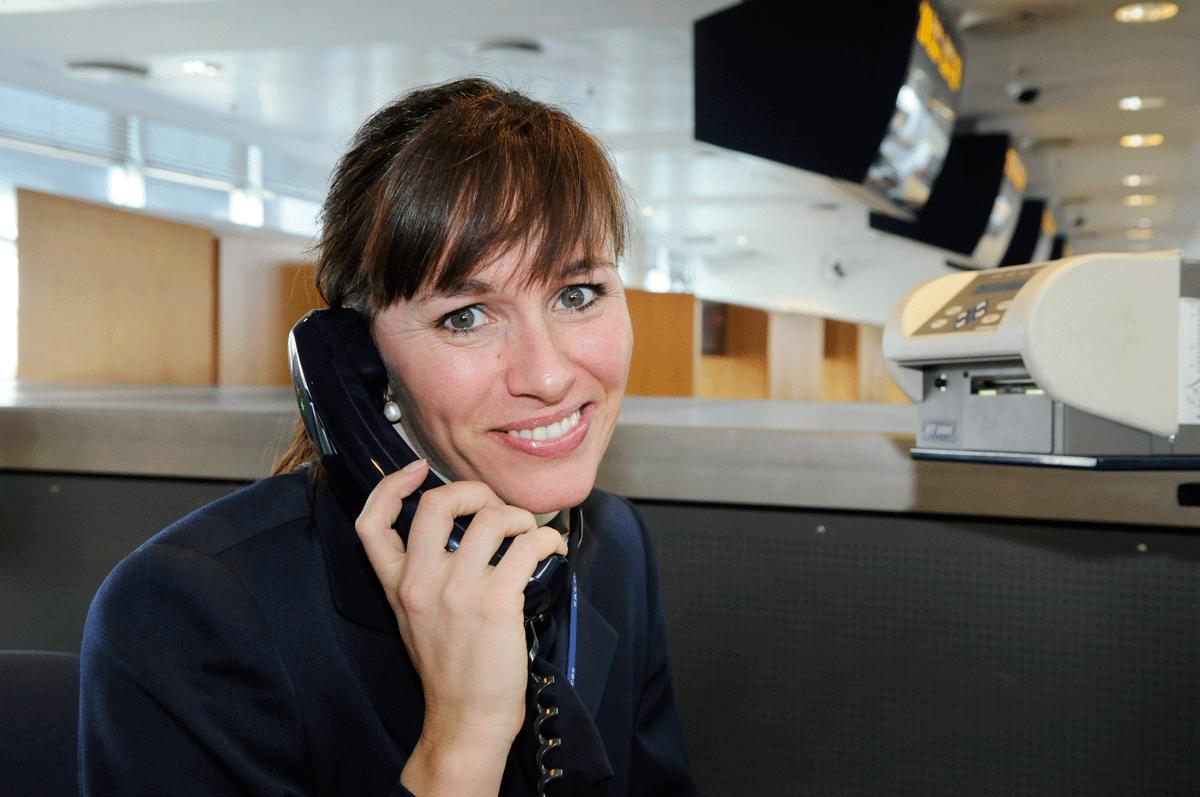 En SAS ground hostess fotograferet til job database af erhvervsfotograf Peter Dahlerup